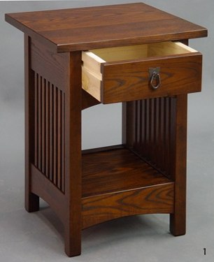 ASH Spindle End Table