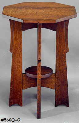 Octagonal Board Leg Table