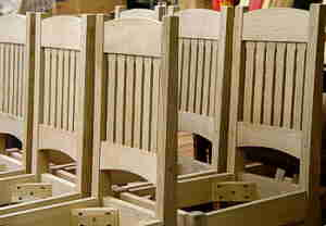 CHAIRS WHITE WOOD