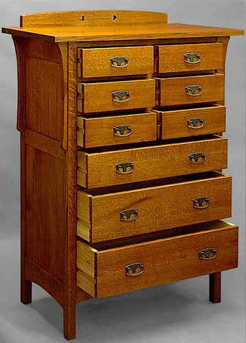 Arts & Crafts 9 Drawer Chest #812
