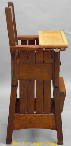 Mission HighChair with rectangular tray