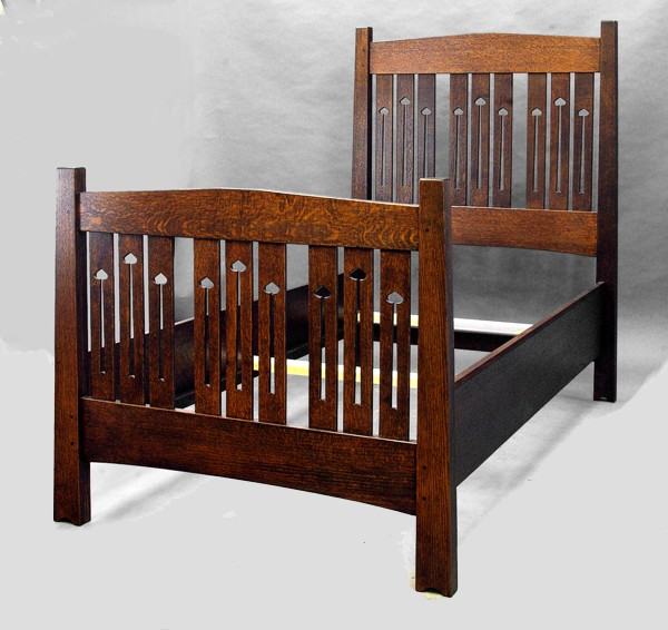 Sale arts and crafts twin bed for Arts and crafts beds